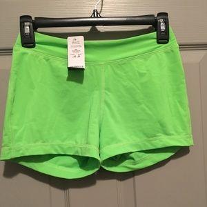 Green bebe workout boy short